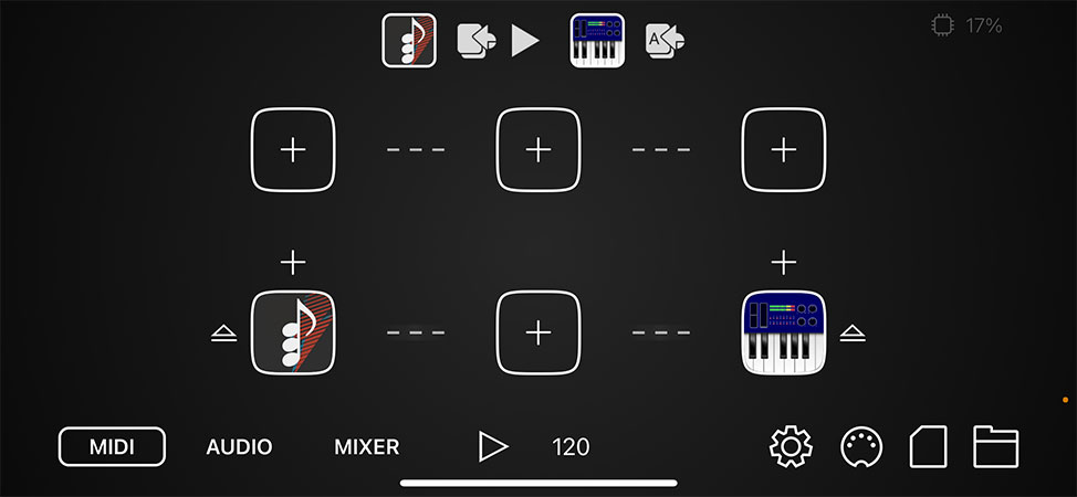 Sequence MIDI apps.